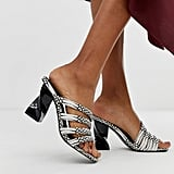 ASOS DESIGN Tubular Block Heeled Sandals