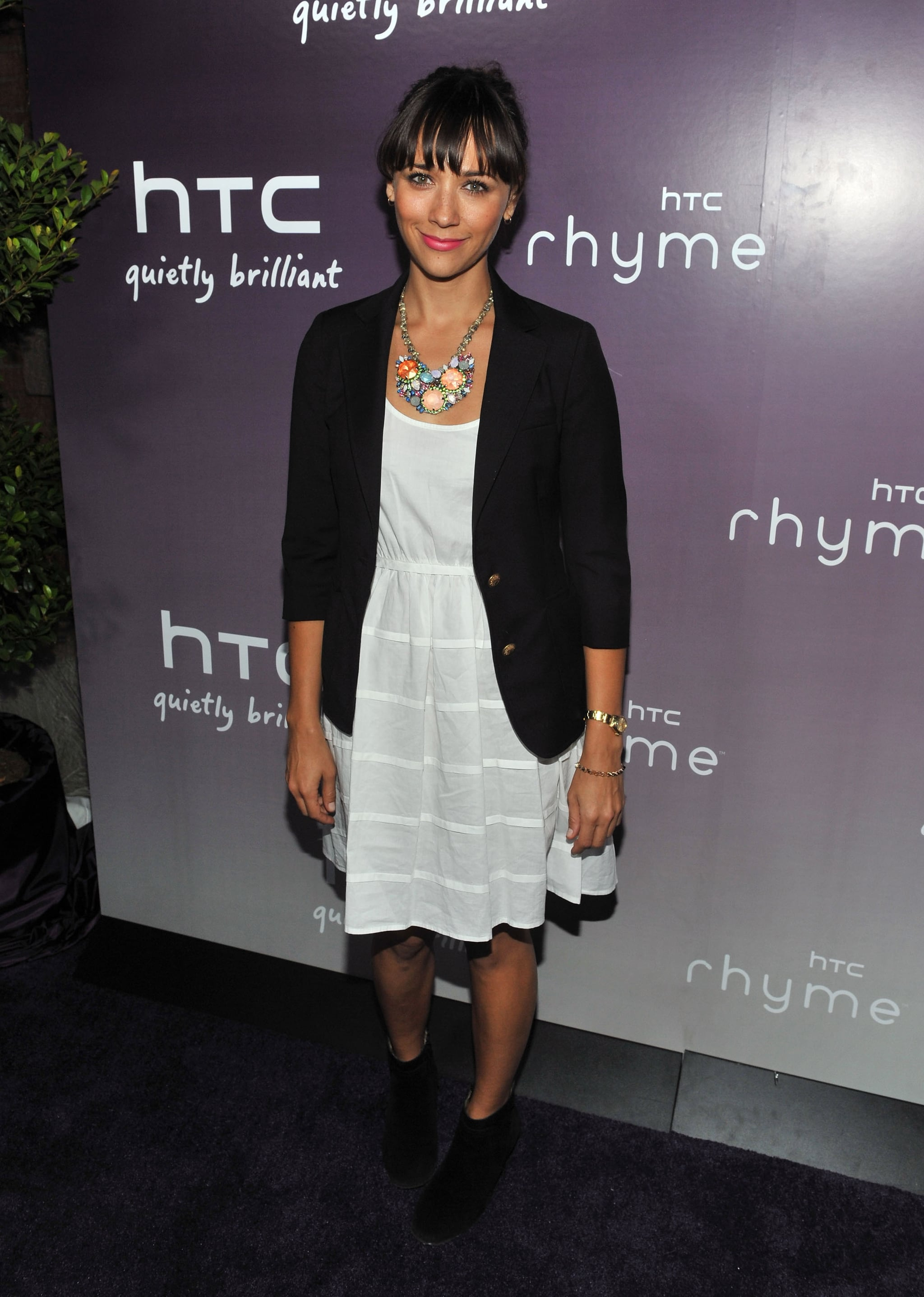 Rashida Jones at the launch of the new HTC Rhyme Android smartphone.