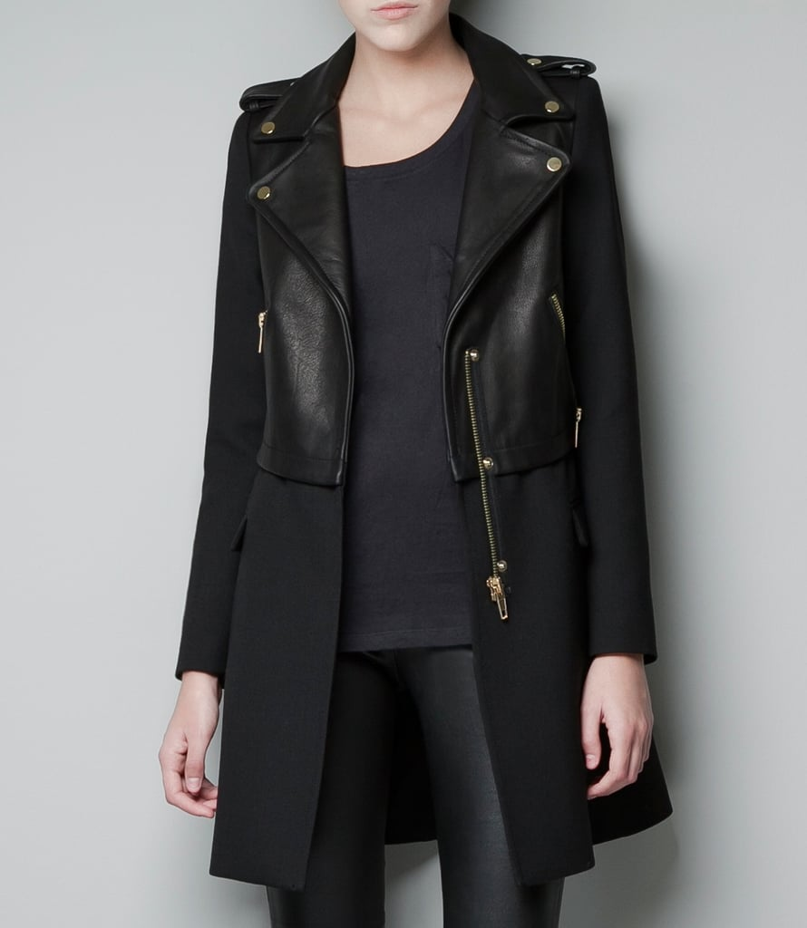 Zara's Leather Biker Coat ($199) is the perfect spin on a classic wool coat; the leather adds a hip, downtown-cool touch, and I love the brass hardware detail. I'll be wearing this slick topper with everything from LBDs to waxed denim and slouchy tees.  — Brittney Stephens, assistant editor
