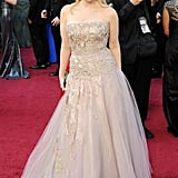 Bridesmaids star Wendi McLendon-Covey walked the red carpet in a pale purple gown.