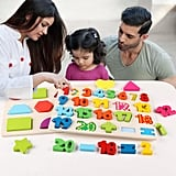 3-in-1 Wooden Peg Puzzles for Toddlers