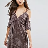 Love Velvet Cold Shoulder Dress
