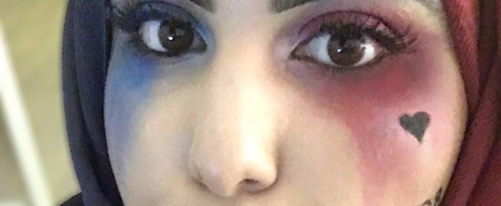 Hijab Harley Quinn Costume | Halloween Makeup