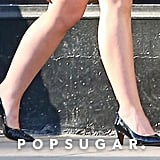 Lily-Rose Depp's Black Kitten Heels
