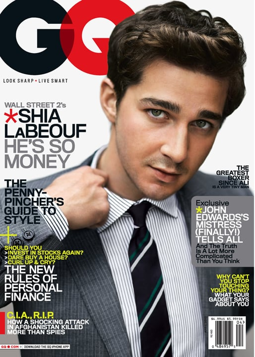 He rocked a sexy businessman look while gracing the cover of GQ's April 2010 issue.