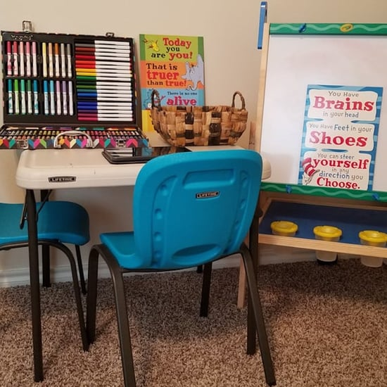 How I Set Up My Kids' School Station at Home