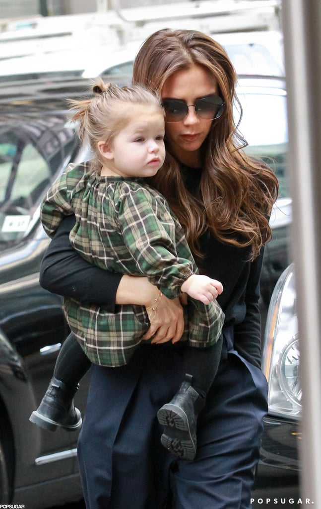 Victoria Beckham went to a toy store with Harper.