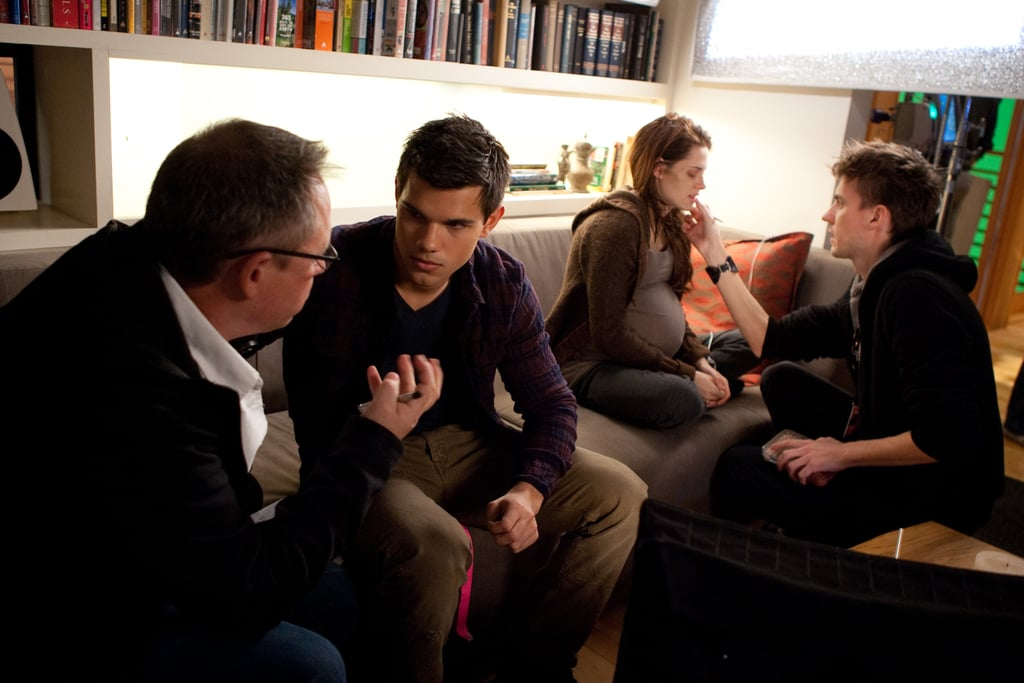 Director Bill Condon chatted with Taylor and Kristen.