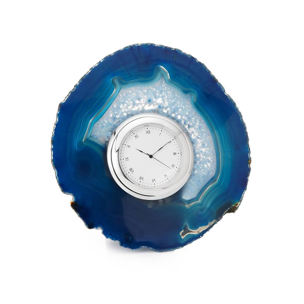 Agate Desk Clock ($105)