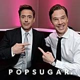 Benedict Cumberbatch and Robert Downey Jr. had fun backstage.