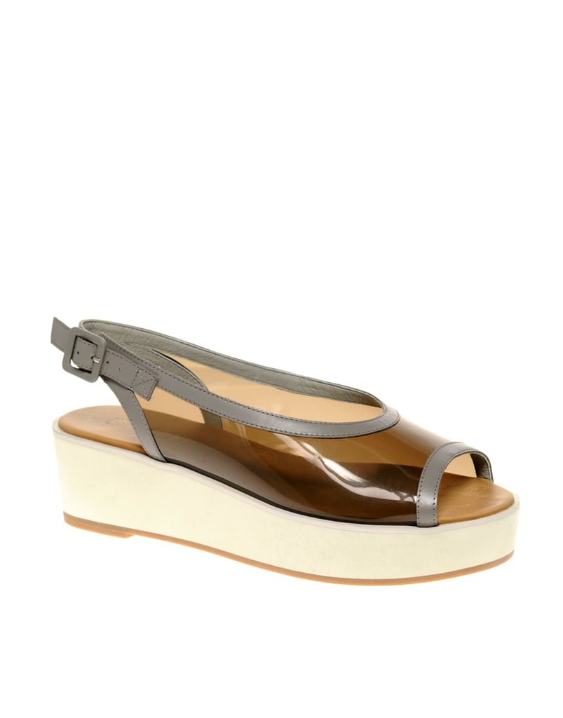 Flatforms are a Spring staple, and these transparent ones have that extra something special.  Asos Whistle Leather Perspex Flatforms ($118)