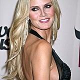 Heidi Klum With Platinum Blond Hair