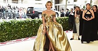 Jasmine Sanders's Met Gala Look Is Basically Liquid Gold