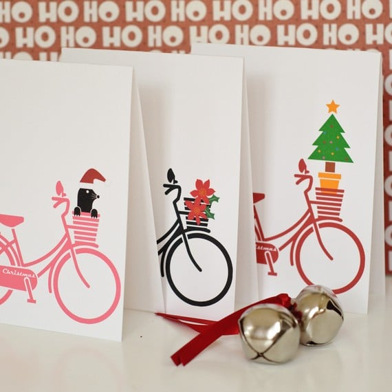 What better way to spread holiday cheer than with a personal bike delivery?
