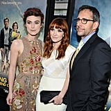 Keira Knightley, Lorene Scafaria, and Steve Carell posed together at the LA premiere of Seeking a Friend For the End of the World.
