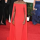 Lupita Nyong'o at the Golden Globes 2014