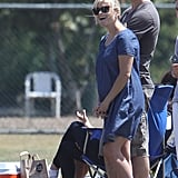 Reese Witherspoon and Jim Toth cheered from the sidelines together during Deacon Phillippe's flag football game in LA.