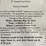 Pool Party Poopers
