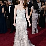 Kristin Stewart on the red carpet at the Oscars 2013.