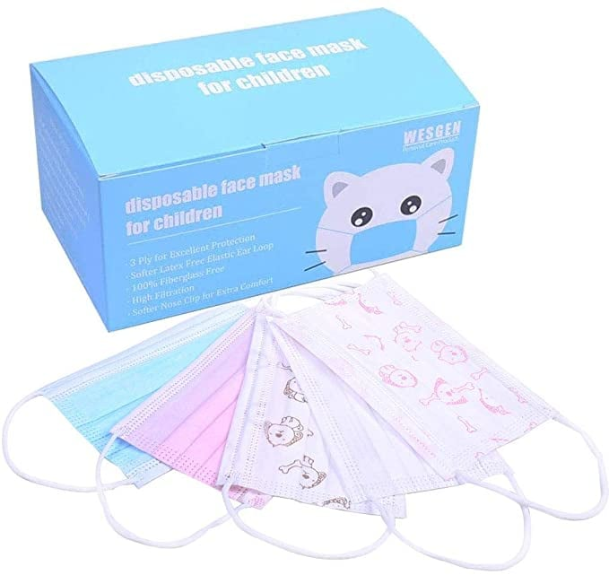 Kids Disposable 3 Ply Breathable & Comfortable Anti Dust Face Covering