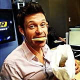 Ryan Seacrest knows cookies are the breakfast of champions. Source: Instagram user RyanSeacrest