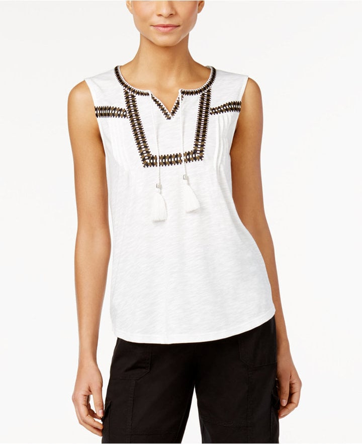 Style & Co. Sleeveless Peasant Top ($40)