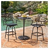 Santa Maria Three-Piece Cast Aluminum Patio Bistro Bar Set