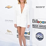 Miley Cyrus opted for some sexy white suiting by Jean Paul Gaultier at the Billboard Music Awards.