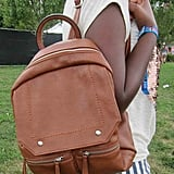 This tan knapsack — from Charming Charlie — is versatile enough to find use well after the weekend's over.