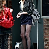 Taylor Momsen, Penn Badgley, Jessica Szohr and Hilary Duff Film Gossip Girl