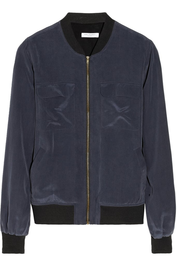 Equipment Abbot Silk Bomber Jacket ($174, originally $290)