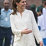 Kate Middleton in Gul Ahmed and Maheem Khan