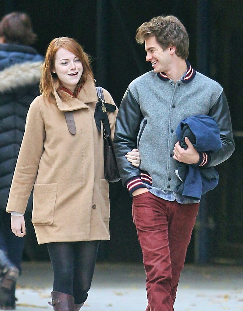 Emma Stone and Andrew Garfield walked arm in arm around NYC.