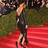Rihanna wore a gorgeous backless Tom Ford gown.