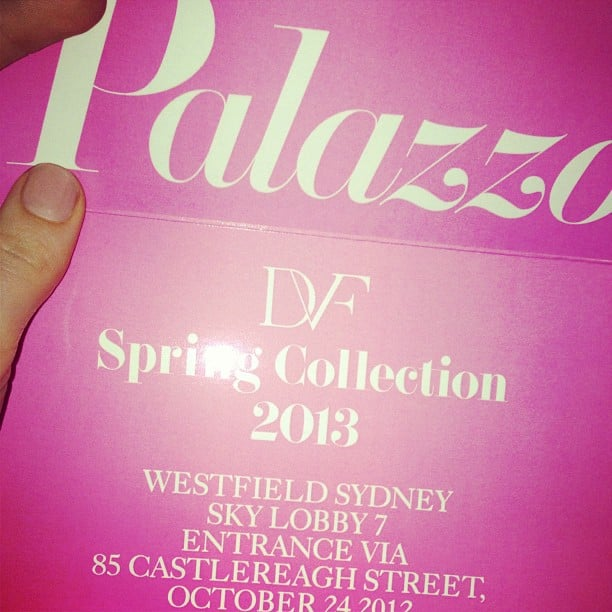 Our invite to the amazing DVF Spring 2013 runway show. Eep!