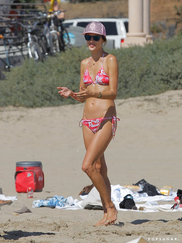Alessandra Ambrosio enjoyed a day at the beach in Malibu.