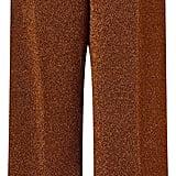 Isa Arfen Metallic Copper Slim Culottes ($965)