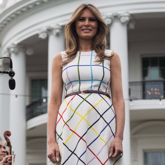 Melania Trump Mary Katrantzou Dress at Congressional Picnic
