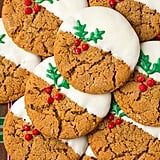 White-Chocolate-Dipped Ginger Cookies