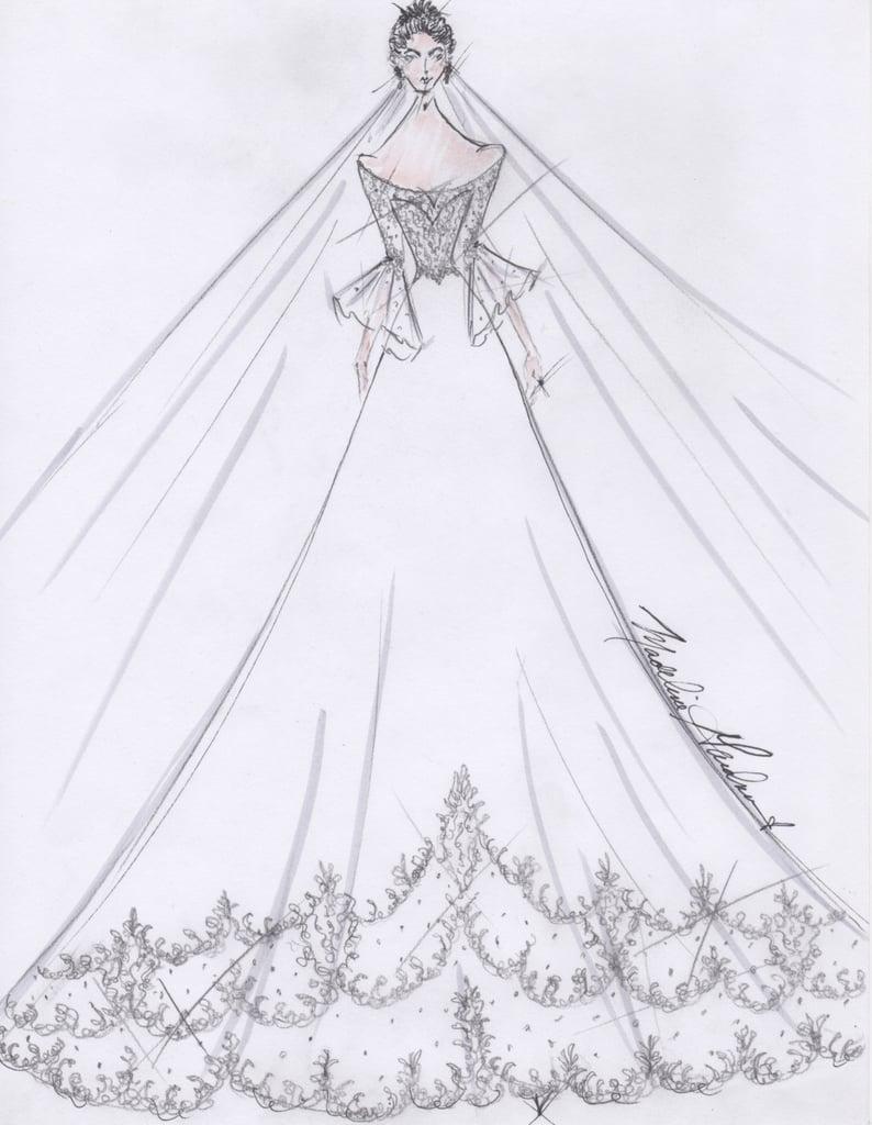 Meghan Markle Wedding Dress Sketches | POPSUGAR Fashion