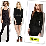 J.Crew Adele Dress ($178), Alexa Chung for madewell Dotted Tennessee Velvet Dress ($178), Urban Outfitters Cami Dress ($187)