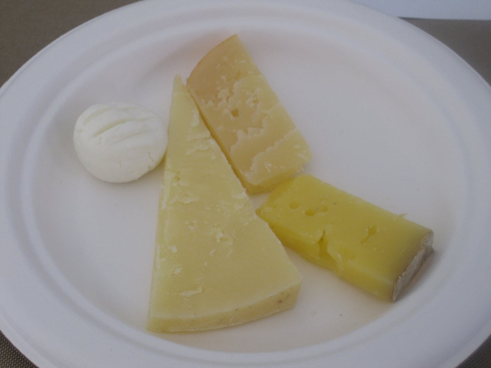 First we tasted the cheese by themselves.