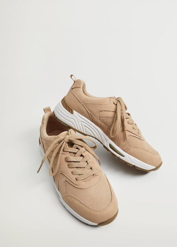 Mango Contrast Sole Leather Sport Shoes