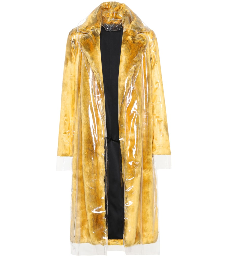 Calvin Klein Faux Fur and PVC Coat