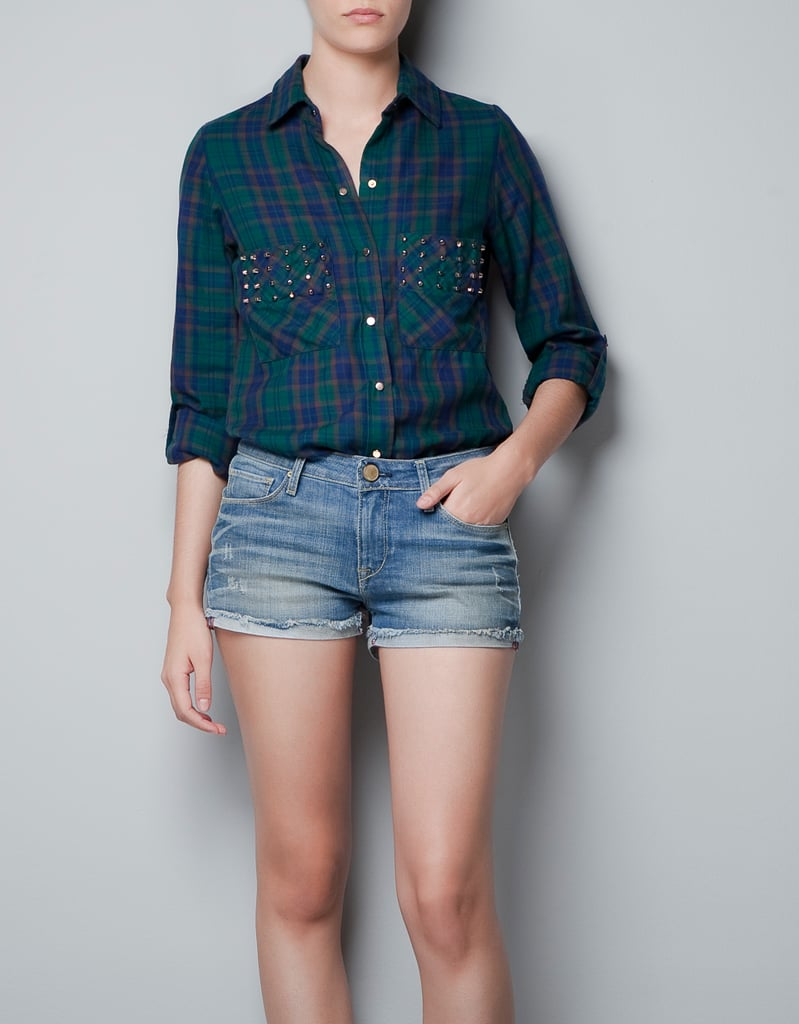 I'm pretty obsessed with comfy, worn-in flannel shirts, and I love that this Zara Studded Checked Shirt ($80) has a little something extra. The studded pockets are edgy without being too over the top, and I think it would look really great tucked into a pleated leather skirt. — Brittney Stephens, assistant editor
