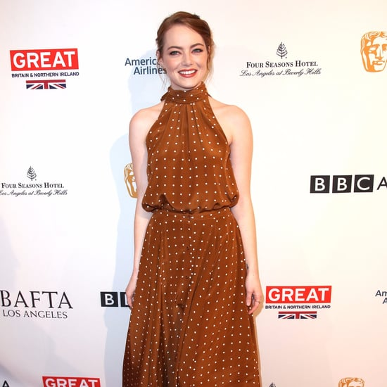 Emma Stone's Polka-Dot Dress at the 2017 BAFTA Tea Party