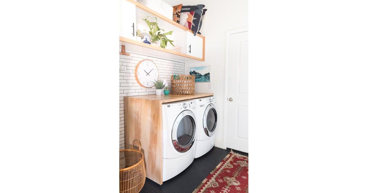 Diy A Waterfall Countertop Laundry Room Organization