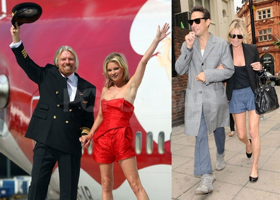 Photos of Kate Moss Shopping with Jamie Hince; Celebrating Virgin Atlantic with Richard Branson