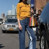Wear a Sweater With Two-Toned Jeans