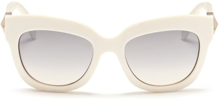 Valentino Rockstud Chunky Cat Eye Frame Acetate Sunglasses ($290)